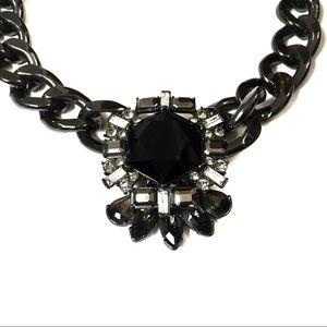 Banana Republic Jewelry - Banana Republic Black Chain Statement Necklace